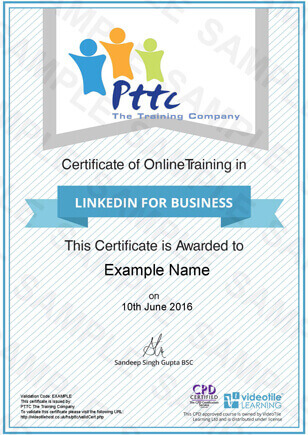 LinkedIn For Business Course - PTTC E-Learning